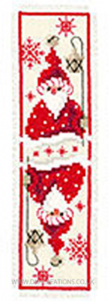 Christmas Gnome With Lantern Bookmark Cross Stitch Kit